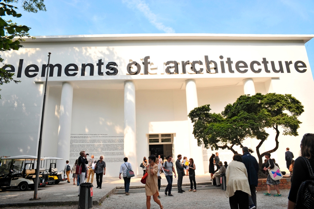 The Elements of Architecture section hosted in the Central Pavillon