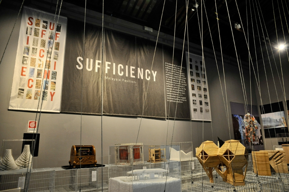 The Malaysian Pavilion with its theme of 'Sufficiency' is to complement Biennale's focus on Fundamentals