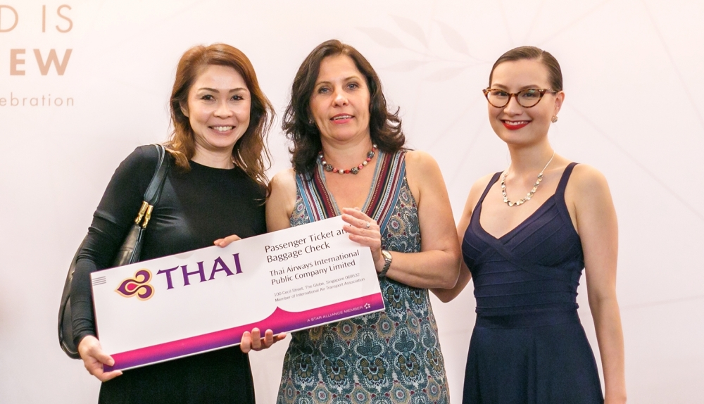(from left to right) Adeline Ang, Ambassador Karin Fichtinger, Miss Lou